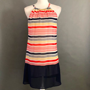 Charming Charlie Multi Color Striped Dress